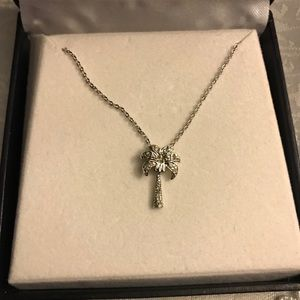 Jewelry - NWOT sterling silver palm tree necklace